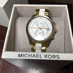 New Michael Kors Gold/Ivory Briar MK6466 Watch